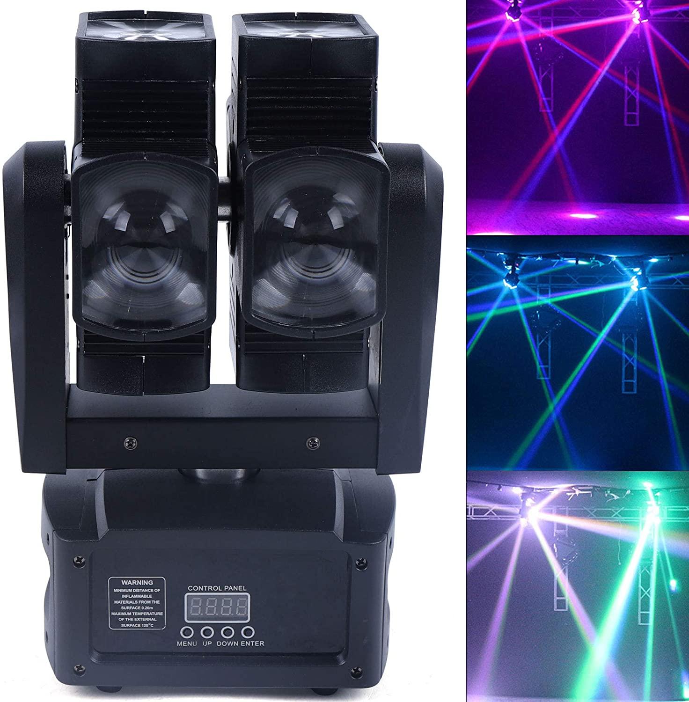 동위 빛 듀얼 레이어 단계 점화 활성화되는 소리 조명 LED 이동하는 맨 위 광속 빛 이벤트에 대한 8PCS4 1DMX512RGBW 조명 KTV DJ 디스코 파티 콘서트제