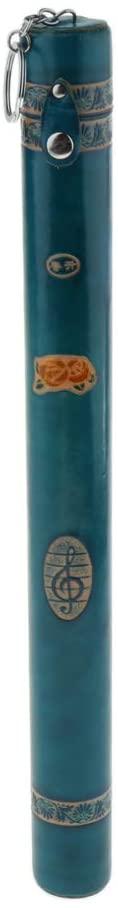 설명 된대로 YANGQIN 액세서리 용 일반 DULCIMER YANGQIN 대나무 튜브-파란색