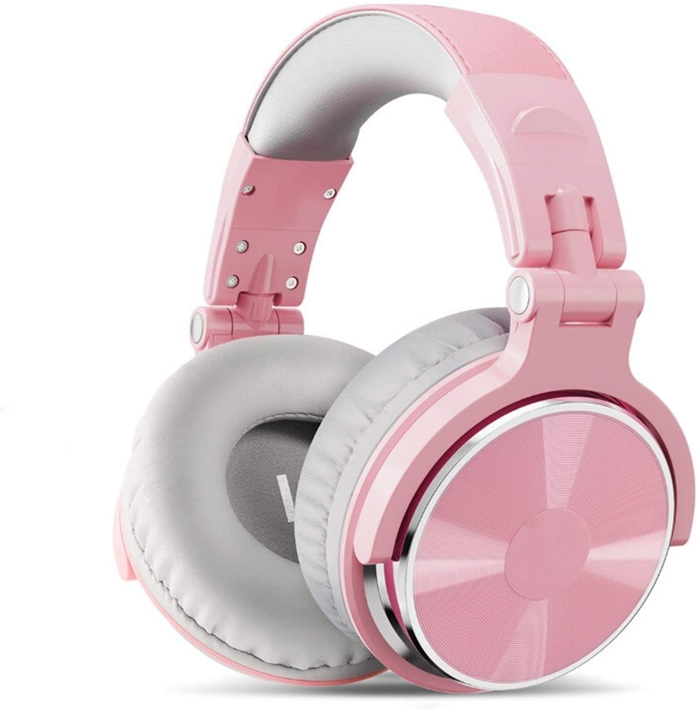 CHAONONG 헤드폰 유선 헤드폰에서 전문 스튜디오 동적 STEREOHEADPHONE 과 함께 마이크를 헤드셋을 모니터링을 위한 음악 전화 헤드폰(색상:표준 핑크색)