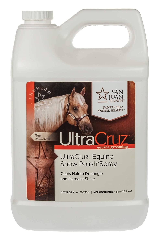ULTRACRUZ EQUINE SHOW POLISH SPRAY FOR HORSES 1 GALLON REFILL