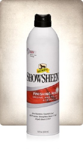 ABSORBINE 15 OZ SHOWSHEEN FINISHING MIST HORSE DOG LLAMA COW AND MORE HAIR POLISH AND DETANGLER NOURISHES COAT