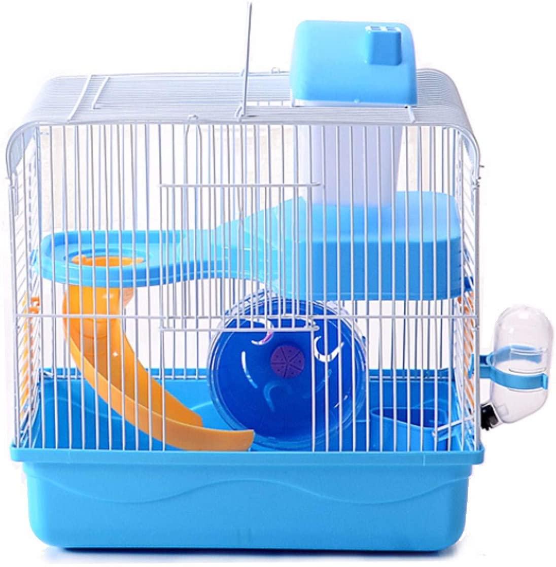 통 햄스터 네덜란드 다람쥐 케이지 햄스터 용품 일반 작은 국내 동물 집 햄스터 홈 블루