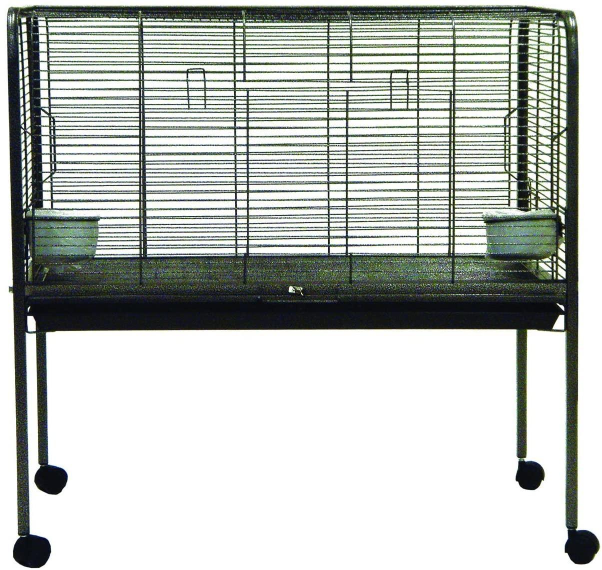 스탠드에 YML 작은 동물 토끼 케이지 골동품 실버(ER3823)