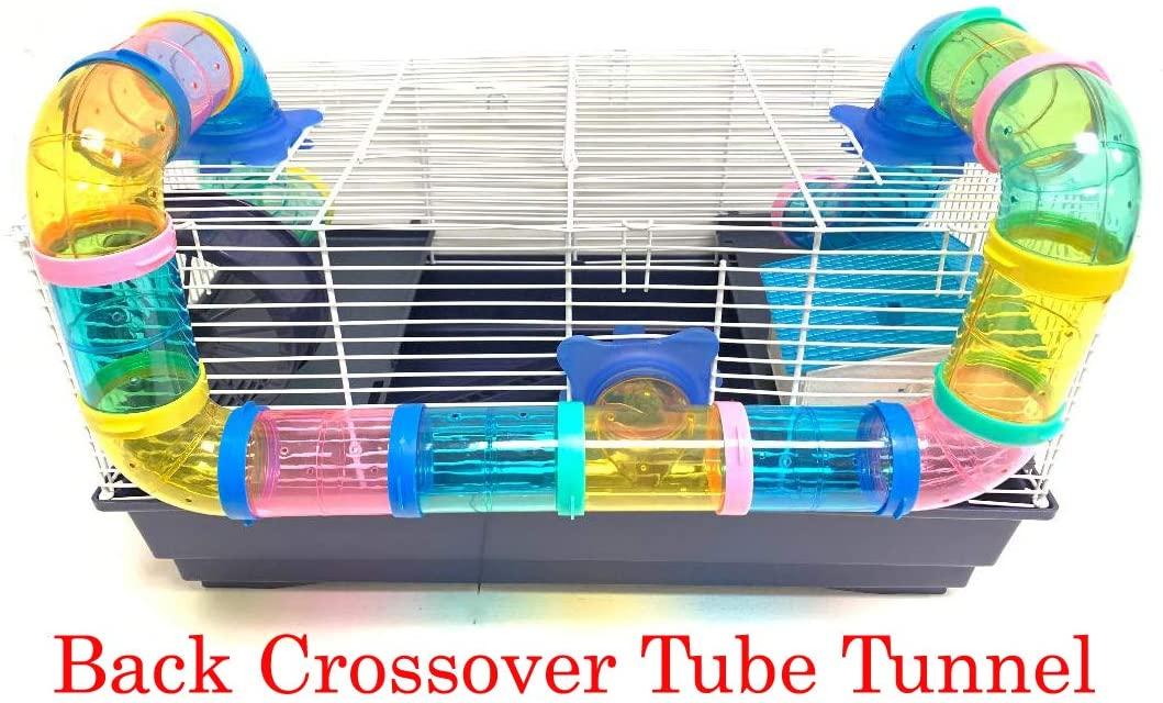 큰 2 또는 3 레벨 햄스터 작은 동물 서식지 케이지 긴 크로스 오버 튜브 터널 설치류 GERBIL 마우스 마우스