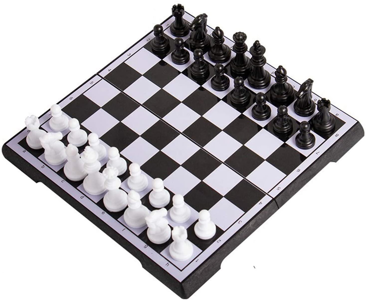 XCYY 체스트 자기 체스 설정한 외국 무역 끝 체스 자기 체스 어린이의 작은 휴대용 소형 폴딩 판 체스트(색상:노랑)