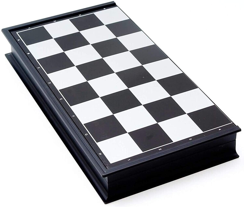 MUYUUU 체스트 자기 체스트 13 인치 접히는 체스판을 여행 보드 게임 전문적인 체스 창의적인 장난감 선물을 위한 성인 어린이(크기:24.524.5CM)