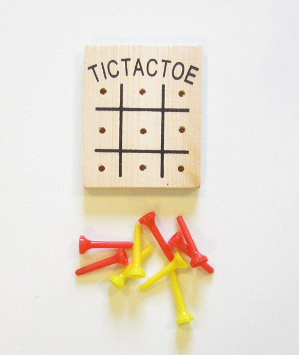 1 NEW WOODEN TIC TAC TOE GAME WOOD TRAVEL GAME KIDS CLASSIC TOY TIC-TAC-TOE ACCESSORIES INDOOR OUTDOOR