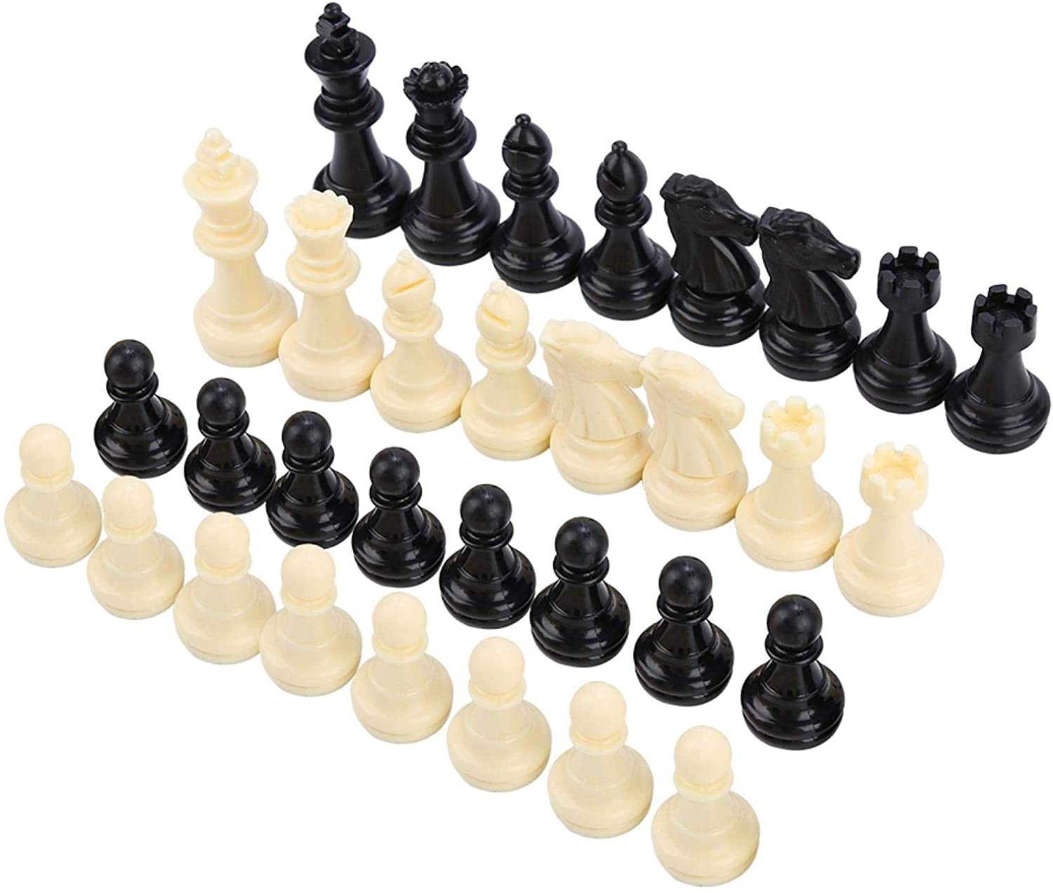 FOLANY CHESS DURABLE ENTERTAINMENT TOOL PLASTIC PORTABLE CHESS PIECE REPLACEMENT CHESS PIECE HOME FOR ADULTS OUTDOOR FOR KIDS
