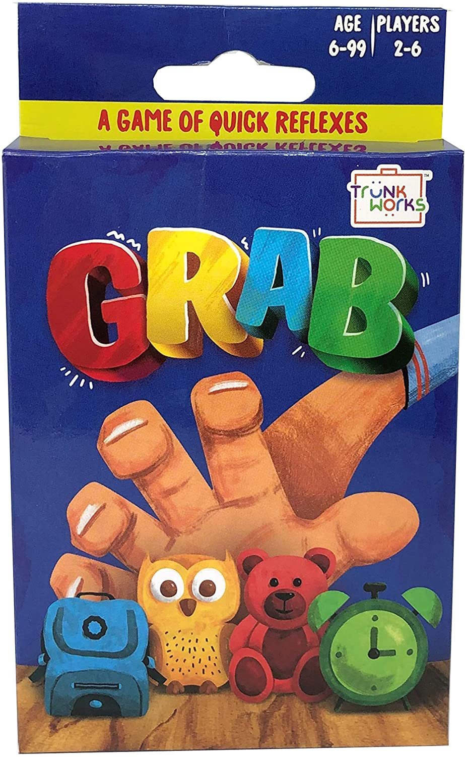 TRUNK WORKS GRAB - A GAME OF QUICK REFLEXES REACT AND SLAM FUN FAMILY CARD GAME