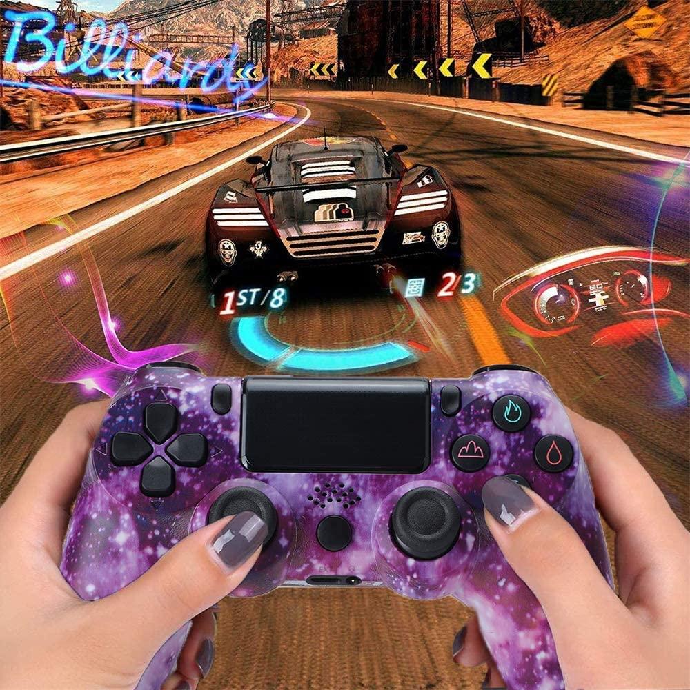 ZQYR PS4 무선 블루투스 게임 컨트롤러 이중 진동 패드 4 스테이션 터치 패널 게임 패드를 가진 이중 진동 실시간 공유 조이스틱