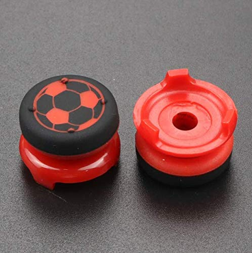 2X 아날로그 익스텐더 조이스틱 캡 썸 스틱 캡 엄지 스틱 그립 PS5PS4 슬림 프로 컨트롤러-RED1