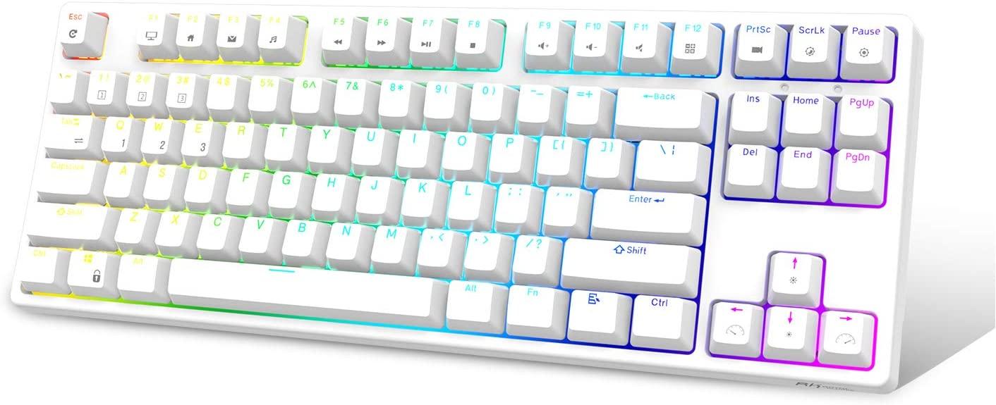 RK 로얄 임시방편 보 RK87RGB 무선 | 유선 80%TKL 기계식 키보드 NKRO87 키 블루투스 게임 OFFICE 키보드를 재충전 전지를 가진 WINDOWS 와 MAC