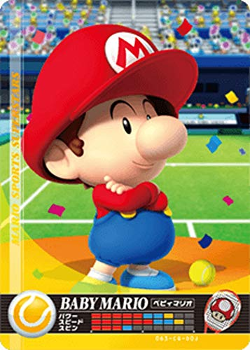 닌텐도 마리오 스포츠 슈퍼 스타 AMIIBO 카드 테니스 아기 마리오 닌텐도 스위치 WII U 3DS
