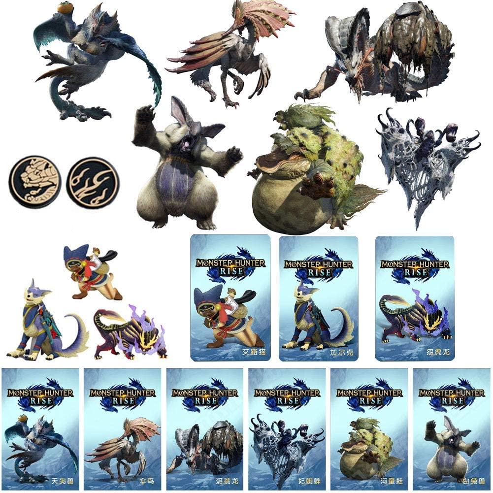 (9 개)괴물 사냥꾼을 상승 NFC AMIIBO 미니 카드를 포함한 분노 드래곤 AILUCAT GARK 스틱 기타 괴물과 호환 스위치 | 라이트 스위치 | 새로운 3DS