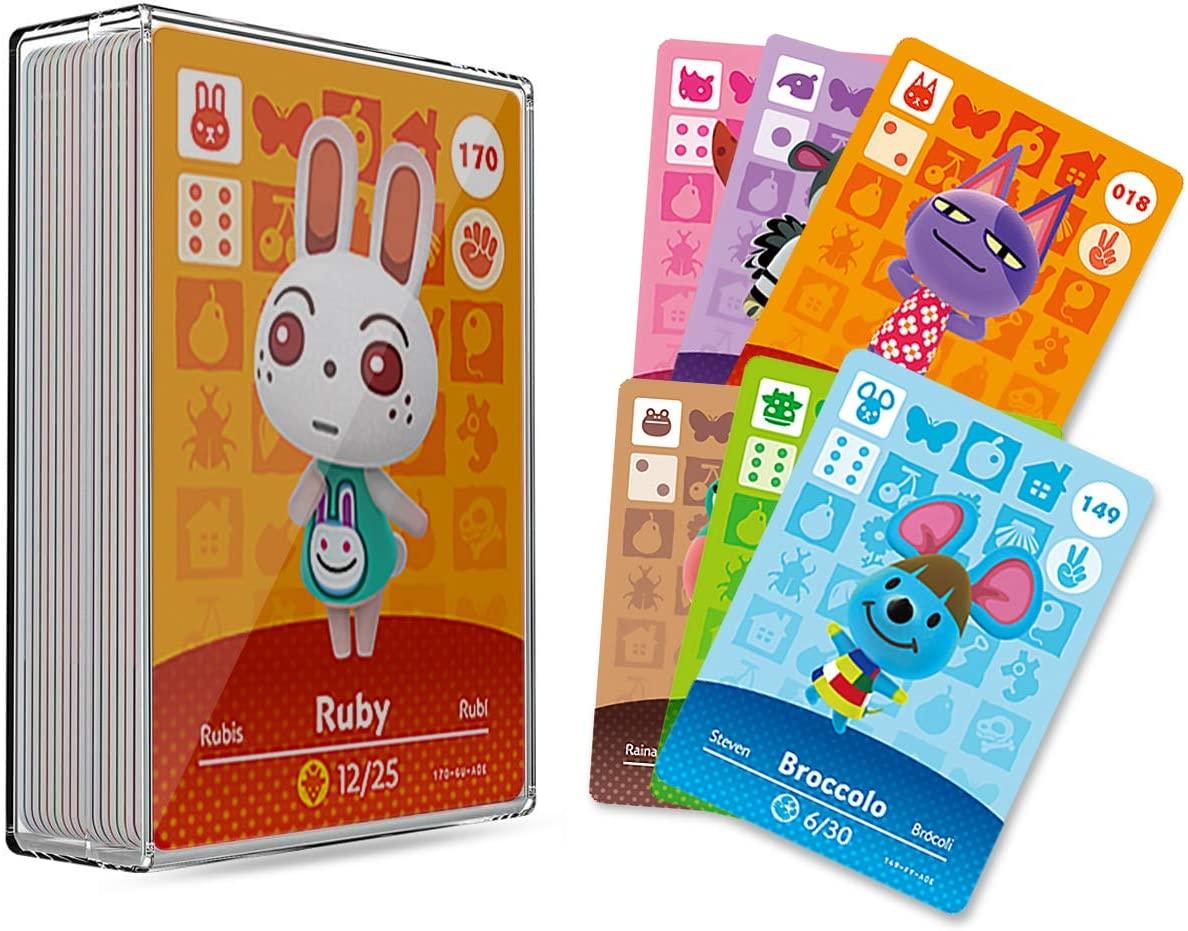 30 개 ACNH NFC TAG 미니 게임을 희소자의 주민을위한 카드의 새로운 지평 동물이 교차하는 게임 카드 스위치 | 라이트 스위치 | WII U 으로 저장 케이스