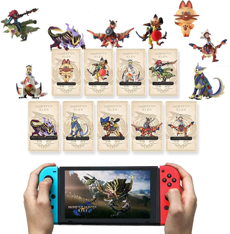 9 개 몬 상승 NFC 미니 카드 AILUCAT GARK 분노 드래곤 호환 스위치   라이트 스위치   새로운 3DS
