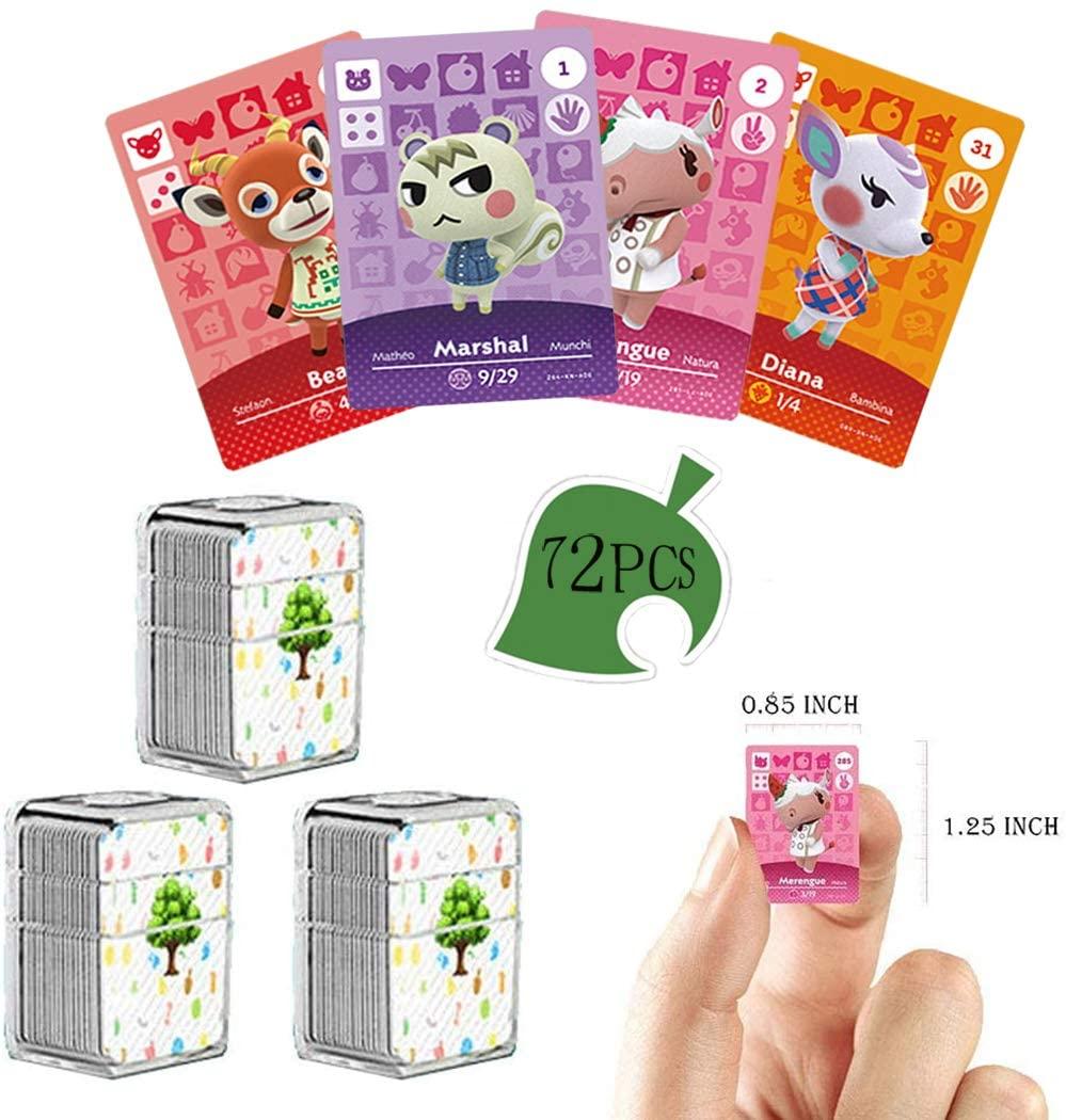 72 개 NFC 태그 게임의 카드를 희귀한 주민에 대한 동의 새로운 지평으로 크리스탈 저장 상자를 위해 적당한 스위치   라이트 스위치   WII U   새로운 3D(동물 SERIES1-4)