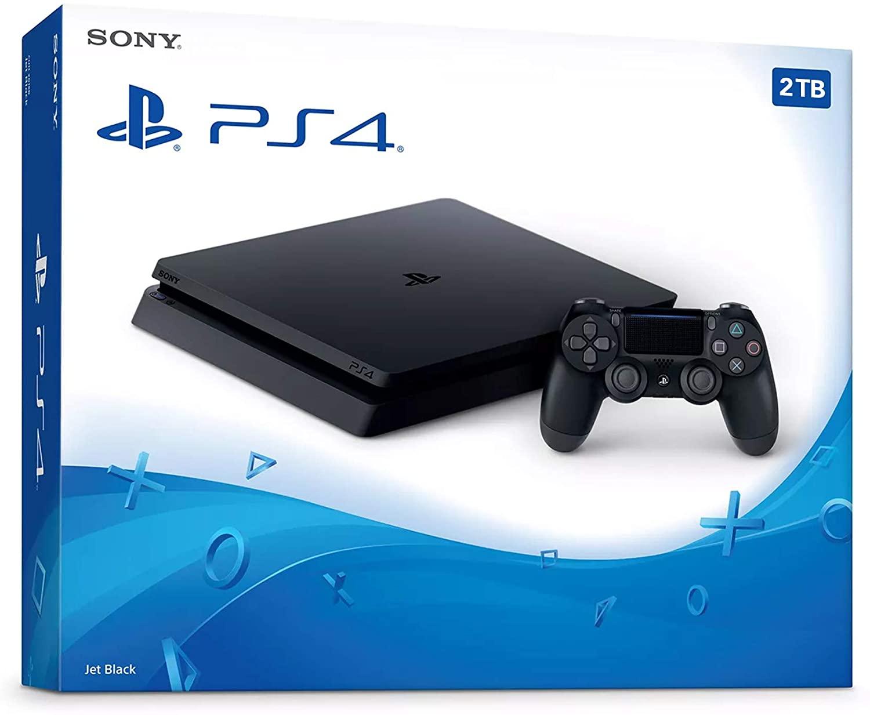 SEYTED 플레이 스테이션 4 슬림 2 테라바이트 콘솔 무선 컨트롤러 번들 PS4 업그레이드 콘솔