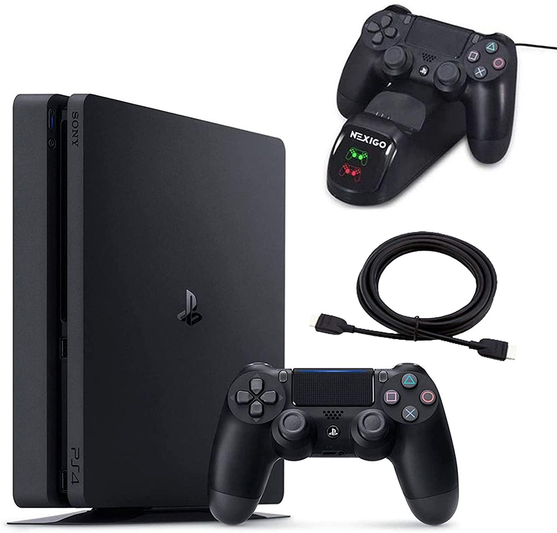 NEXIGO2020 년 4PS4 스테이션 슬림 1TB 콘솔 크리스마스는 가족 휴가 번들의 빛이&슬림 PS4 시스템 1TB 하드 드라이브 위탁 STATION 독+HDMI 케이블 번들