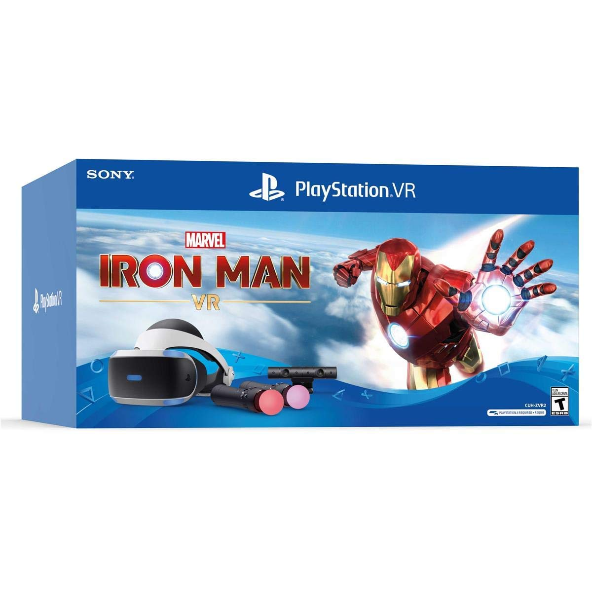 PS4PSVR 마블 아이언 맨 번들 VR 헤드셋+카메라+컨트롤러 3004152