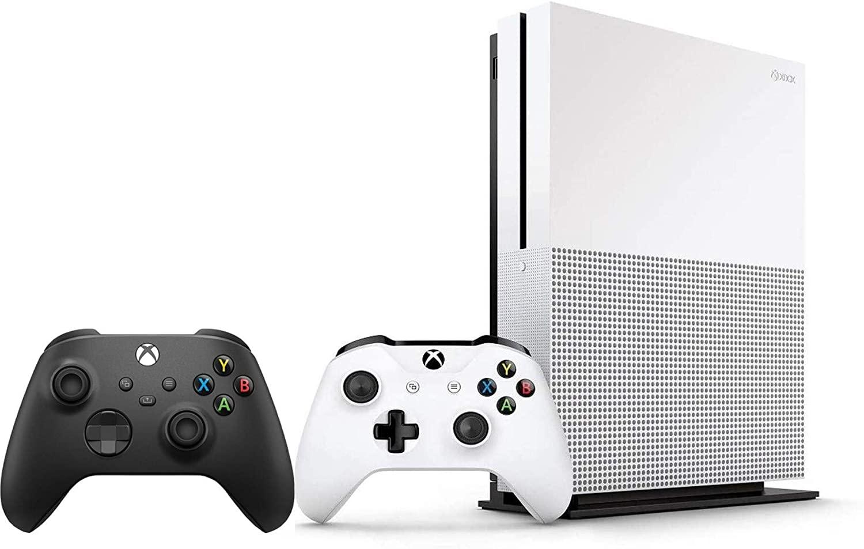 XBOX ONE S1TB 뭉치 버전 2 2X 무선 컨트롤러(1X 화이트+1X 블랙)-1 달 XBOX 게임을 통과 시험