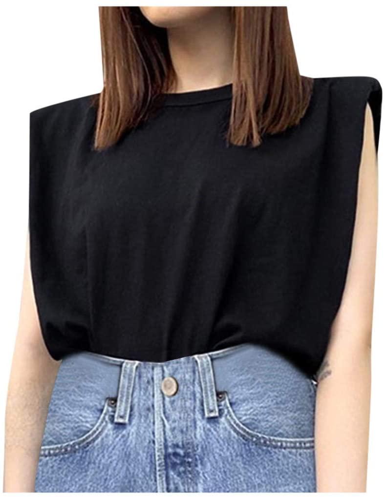 YANG  최고의 여성 캐주얼 블라우스 우아한 느슨한 솔리드 컬러의 셔츠 티 탑 내부 소매 티셔츠 라운드 목 편안 튜닉