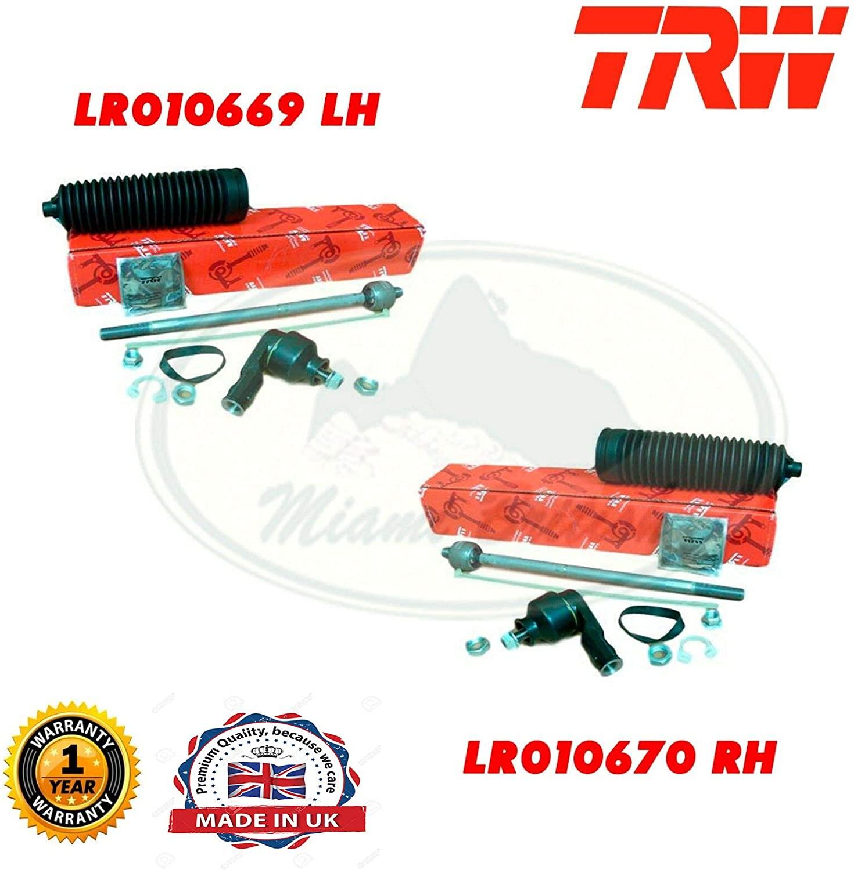 STEERING TIE ROD END & SPINDLE REPAIR KIT LH & RH LR3 LR010669 LR010670 TRW
