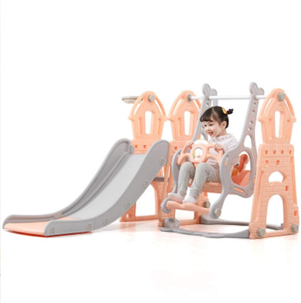 TFACR 어린이 등반가 및 스윙 세트 - 야외 및 실내용 접이식 유아 슬라이드 어린이 선물3-IN-1클라밍 사다리