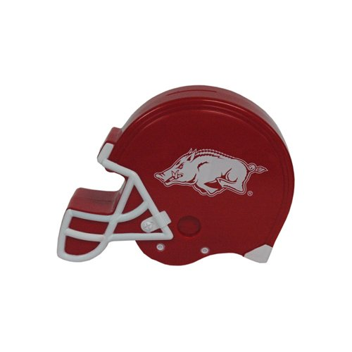 게임 데이 아웃피터스 NCAA 아칸소 레이저백 플라스틱 헬멧 뱅크 한 가지 크기 다색