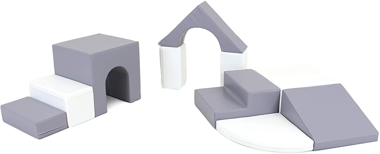 IGLU 소프트 플레이 장비 소프트 플레이 양식 놀이터 어린이 회색   흰색 소프트 플레이 블록