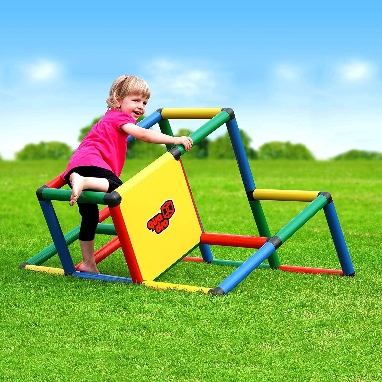 QUADRO 내 첫 번째 견고한 실내   야외 등반가 토트   유아 정글 체육관 확장 모듈 형 교육 구성 요소 플레이 셋 거대한 건설 KIT 놀이 구조 어린이 나이 1-6 년