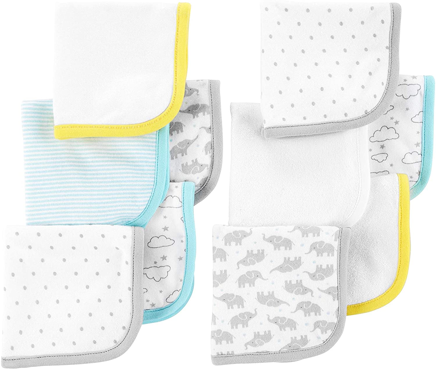 SIMPLE JOYS BY CARTER`S BABY 10-PACK WASHCLOTH SET ASSORTED PACK ONE SIZE