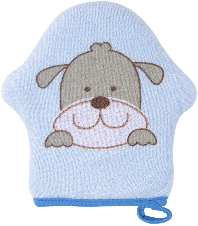 ASIXXSIX BABY COTTON SPONGE STAR SHAPED BABY SHOWER SPONGE LOVELY COMFORTABLE FOR HOME BABY MUMMY(BLUE DOG-BIG STAR SHAPE)