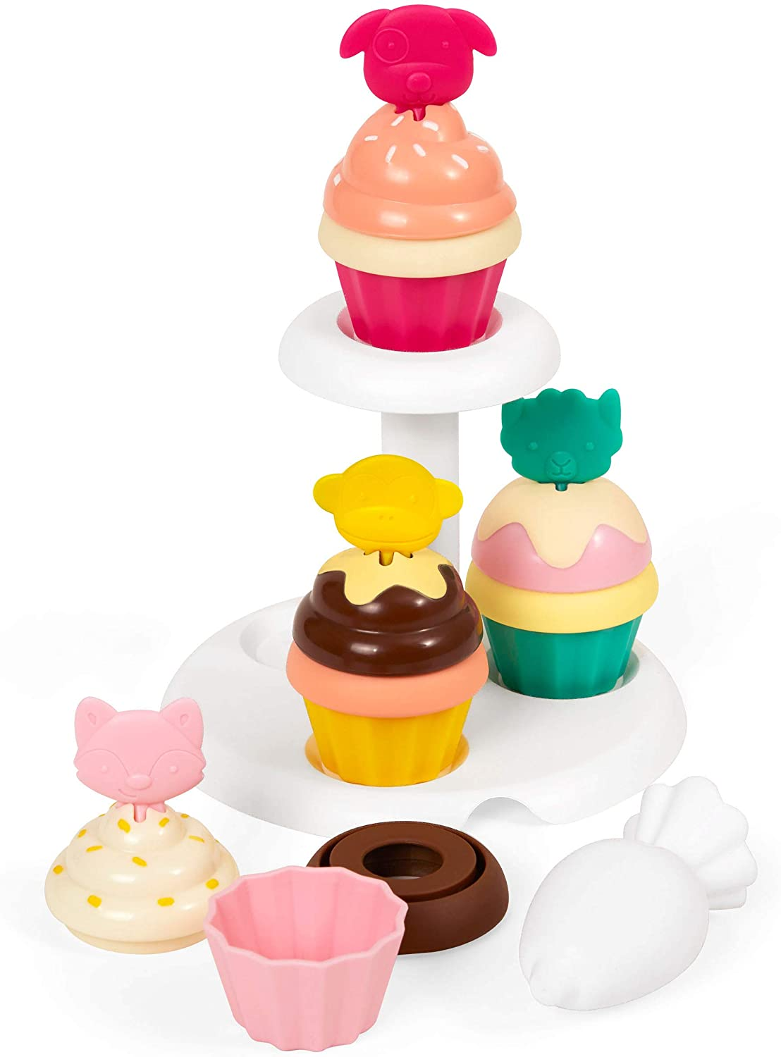 SKIP HOP ZOO SORT & STACK CUPCAKES TODDLER PRETEND PLAY DEVELOPMENT TOY