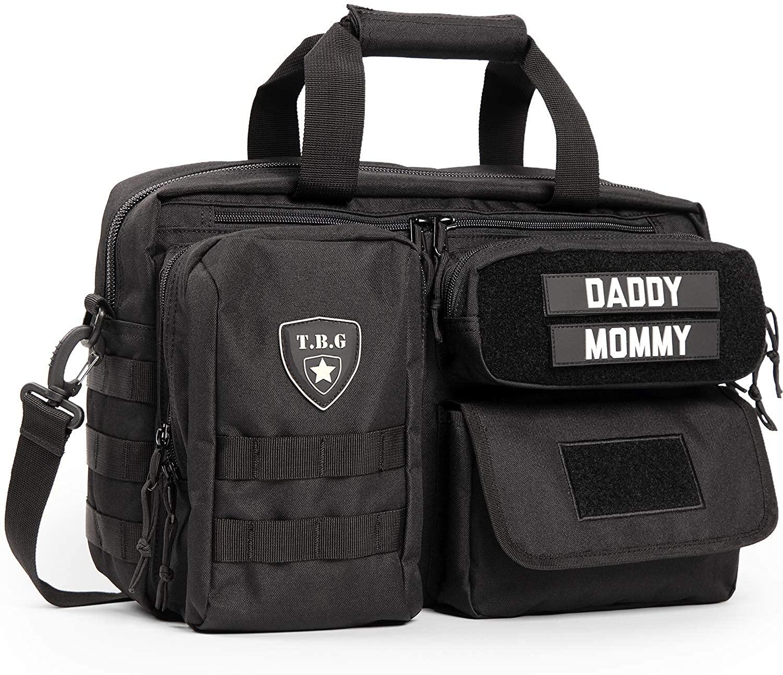 TBG - 포함 유모차 스트랩아빠를위한 남성 전술 기저귀 가방. 조직
