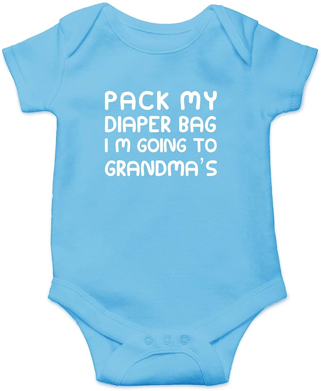CBTWEAR 팩 내 기저귀 가방 나는 할머니에 갈거야 - GIGI 나를 사랑 - 귀여운 유아 원피스 베이비 바디 수트
