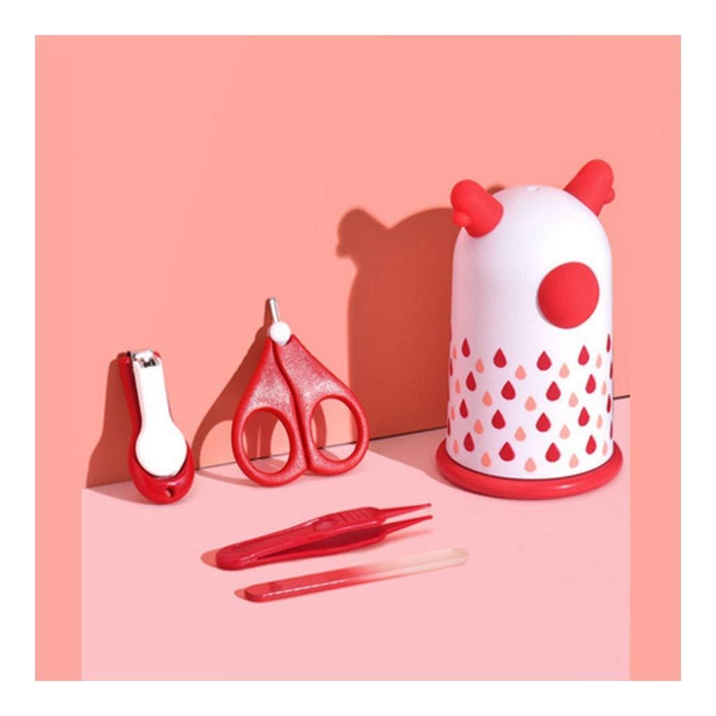 FOUR-IN-ONE 스테인레스 스틸 아기 손톱깎이의 세트 네일 아름다움 배려 도구에 대한 남성과 여성의 신생아 페디큐어 도구를 포함 상자(색상:B)