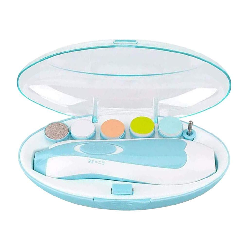 DAILYMALL 전기 아기 네일 신생아 유아 안전 분쇄기 및 6 톤-블루