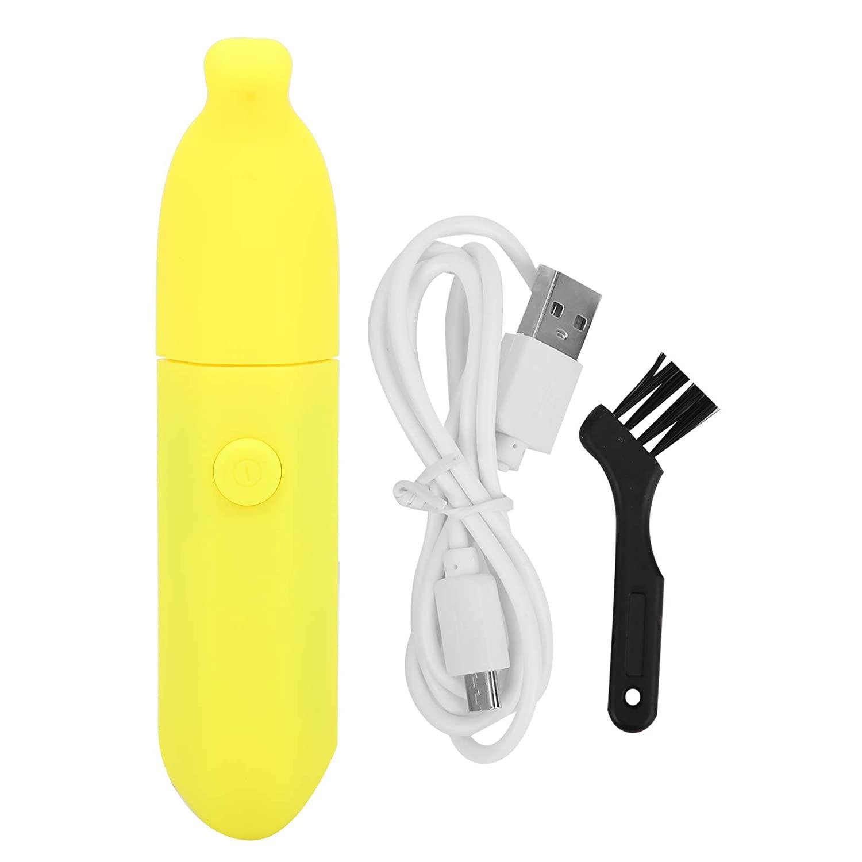 USB 재충전용 손톱 깎기 청소 브러시 아기 손톱 트리머 파일의 전기 아기구(노란색 네일 광택기)