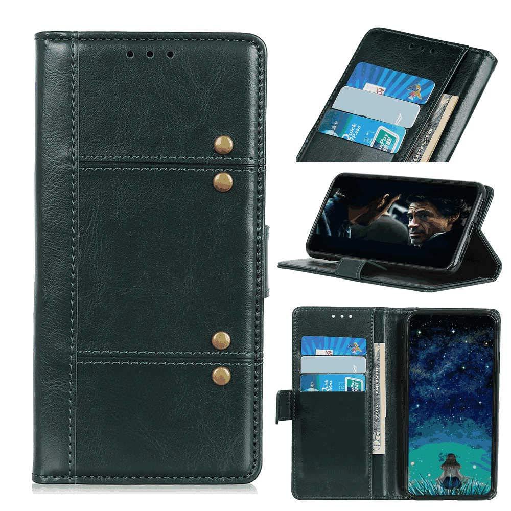 삼성 갤럭시 S10 5G와 호환 되는 가죽 커버 삼성 갤럭시 S10 5G에 대 한 녹색 지갑 케이스