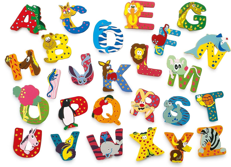 INDIGOS UG - 나무 편지 - R - 어린이와 아기를위한 - 어린이 방 학교 유치원을위한 모티프 동물 놀이 공예 및 수집