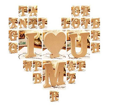 라이트 클럽 독립형 A-Z 나무 편지 알파벳 매달려 결혼식 홈 파티 장식 용 어린이 아기 이름 여자 침실 결혼식 브리드 데이 파티 홈 장식 - 편지 W