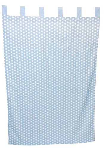 TADPOLES DOT CURTAIN PANELS SET OF 2 BLUE (DISCONTINUED BY MANUFACTURER)