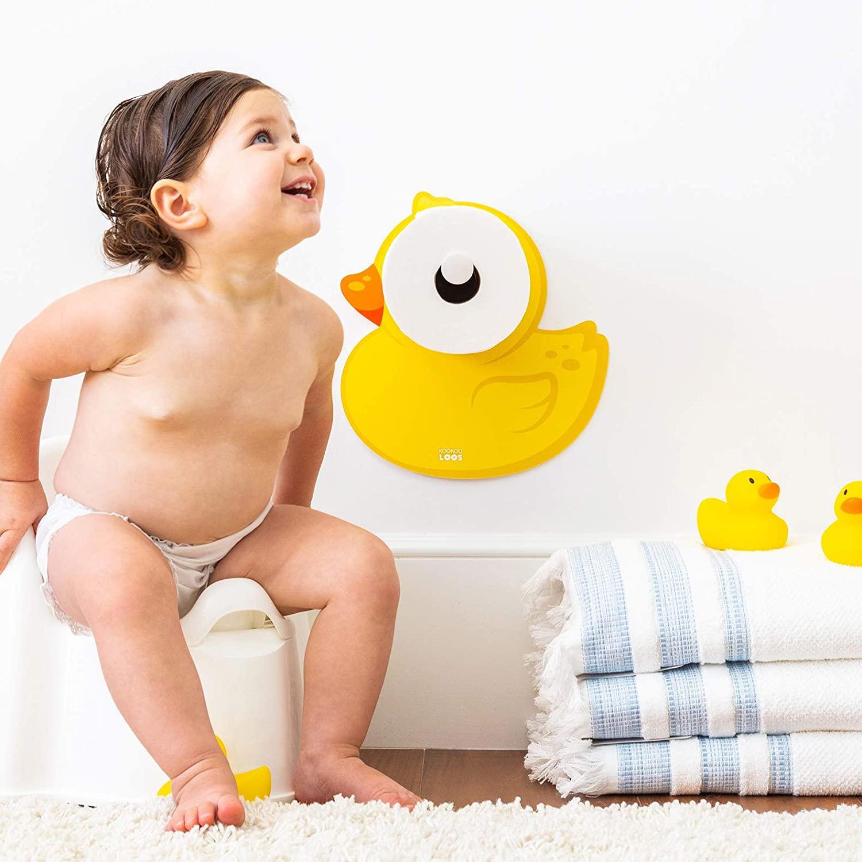 쿠쿠덕키 변기 훈련 액세서리 화장지 홀더 와 욕실 장식 오리