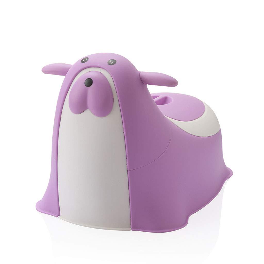 어린이 화장실 다기능 변기 바다 사자 모양 남자와 여자 아기 소변기 (색상 : 보라색)
