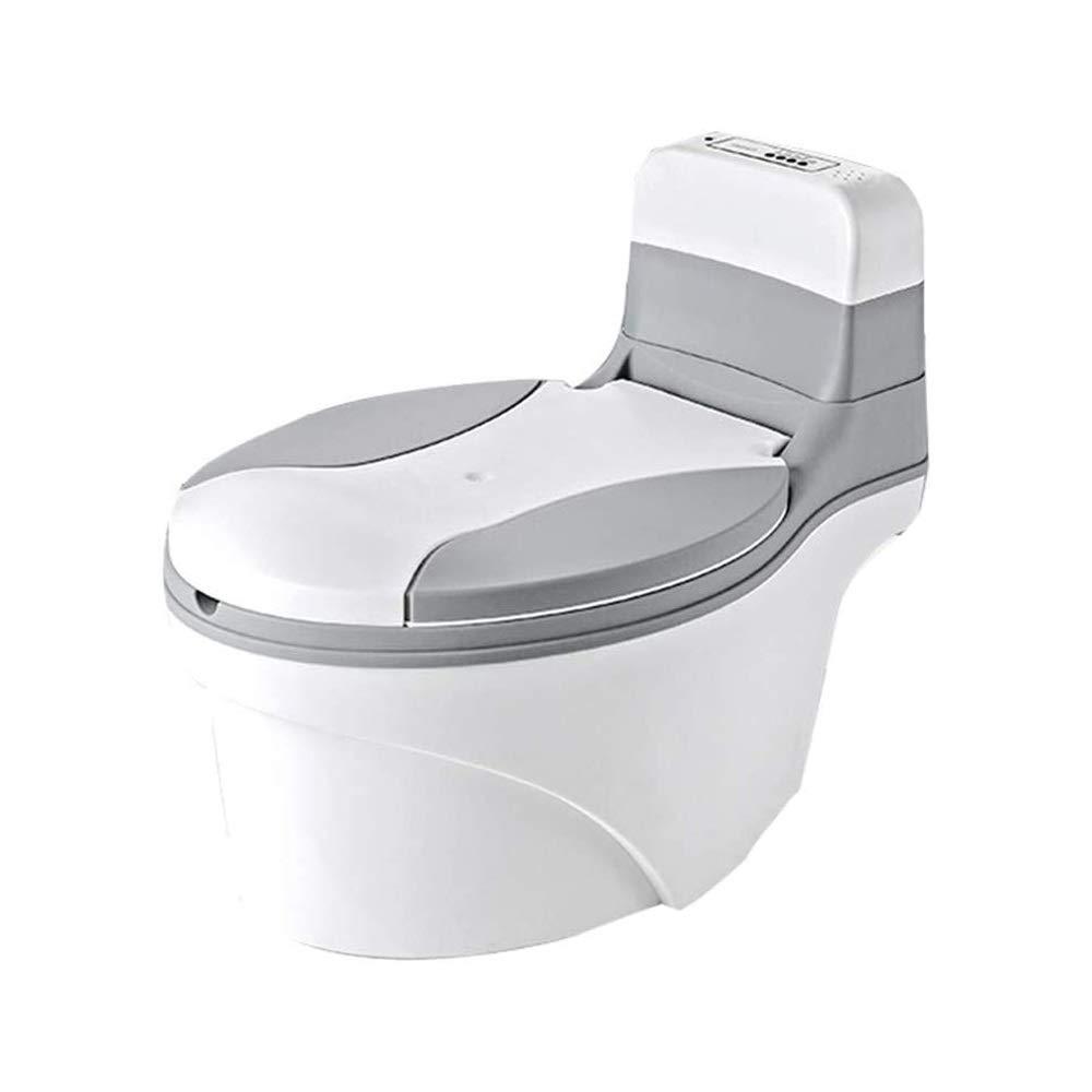 LKNJLL 변기 현실적인 변기 훈련 화장실 외모와 성인 화장실 처럼 느낌 - 쉽게 빈 청소