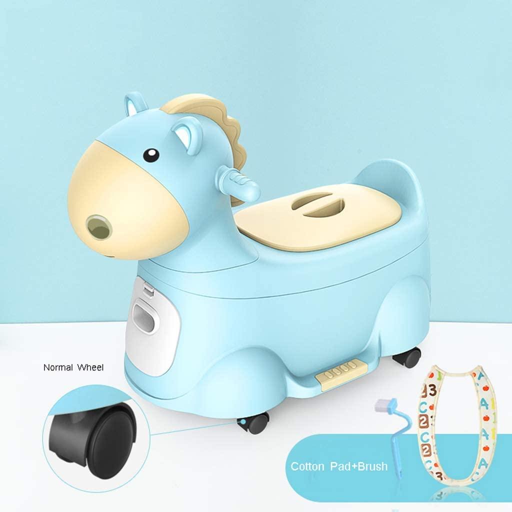 시시리아 아기 변기 훈련 의자 좌석 동물 말 손잡이 재미 유아 변기 의자 안락 아기 변기의 어린이 흔들 요람 자동차 블루