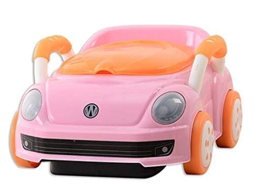 YSJSPKK 키즈 포티 새로운 만화 자동차 귀여운 냄비 백레스트 신생아 어린이 소변 변기 좌석 변기 훈련 어린이 의자 (색상 : 핑크)