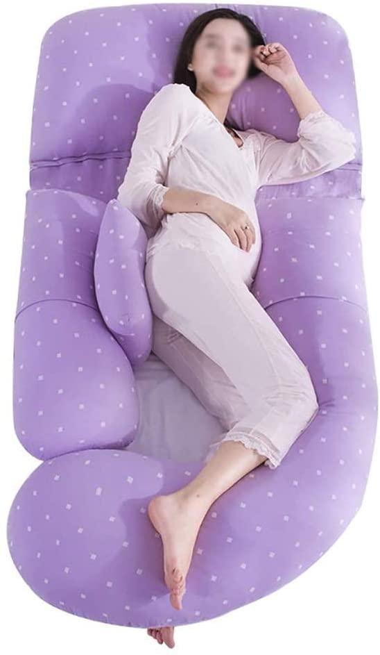 주안이이 바디 베개 수면을위한 임신 베개 U 모양 분리 형 임신 베개 하이 스트레치 코튼 푹신한 부드러운
