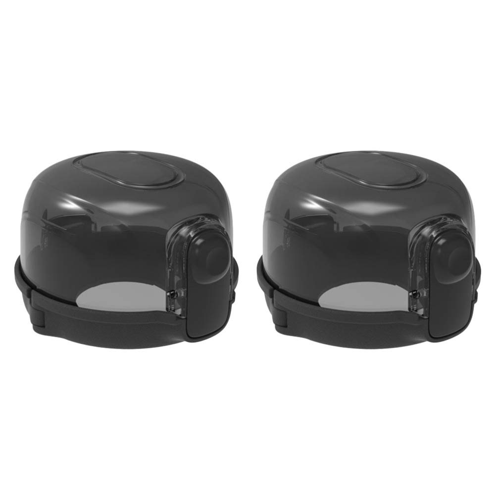 TOYANDONA 베이비 세이프티 오븐 손잡이 잠금 검정 스토브 손잡이 는 어린이 안전 가드 어린이 안전 가드 어린이 안전 및 애완 동물 주방 가스 스토브 안전 가드 2PCS를 커버